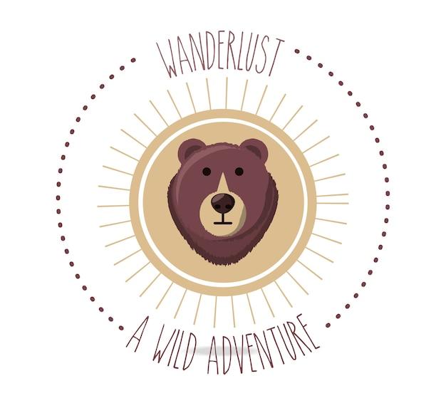 Reislust met berenwilddier naar avontuur