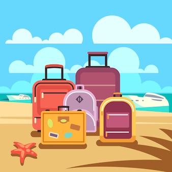Reisplanning, zomervakantie, toerisme met passagiersbagage