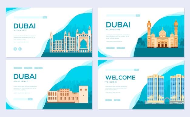 Reissjabloon van flyear, webbanner, ui-koptekst, site invoeren. uitnodiging concept achtergrond.