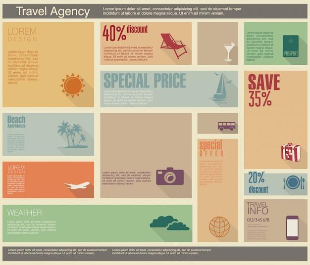 Reissjabloon voor interface of infographic