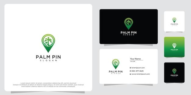 Reisspeld en palmboom moderne geometrische creatieve logo-ontwerpinspiratie