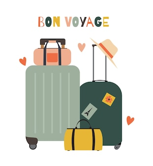 Reistassen koffers pictogram geïsoleerd
