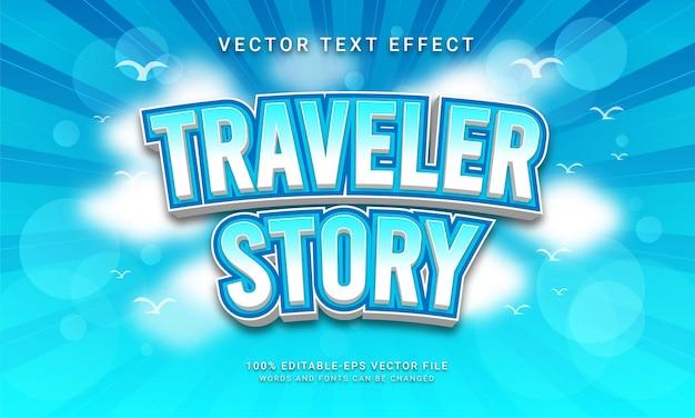 Reisverhaal bewerkbaar teksteffect thema wereldreizen