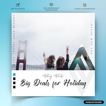 Reisverkenners instagram post webbannersjabloon