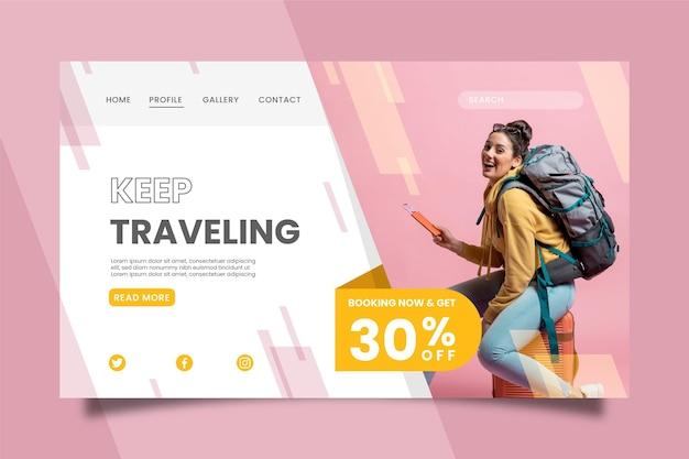 Reisverkoop - concept van bestemmingspagina