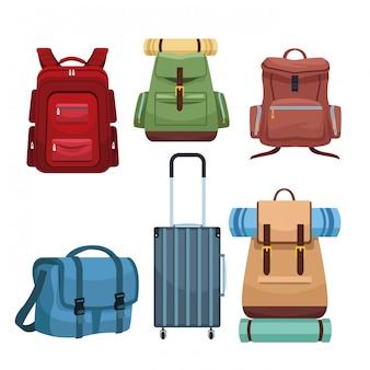 Reizen camping rugzakken en bagage