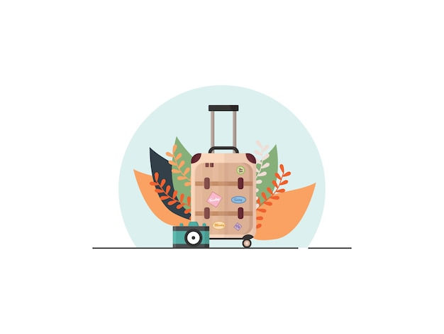 Reizen concept illustratie in vlakke stijl