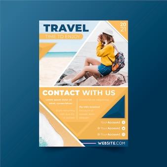 Reizen concept poster stijl