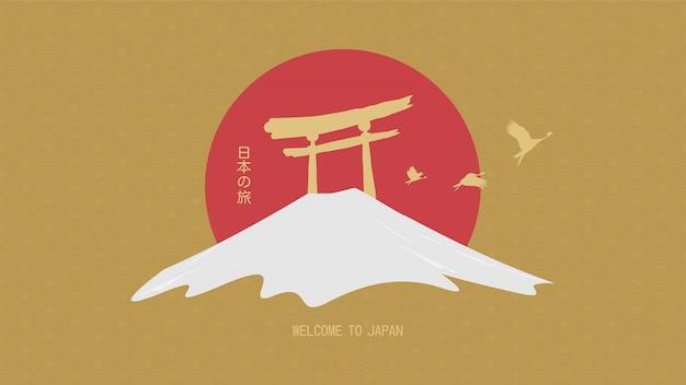 Reizen concept. reizen naar japan
