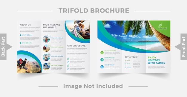 Reizen driebladige brochure