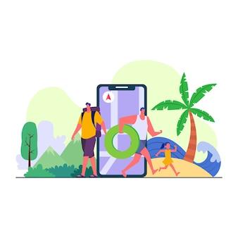 Reizen en toerisme illustratie