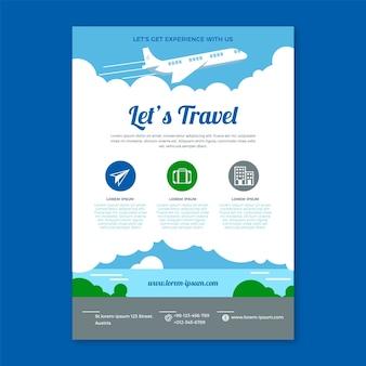 Reizen flyer transporten