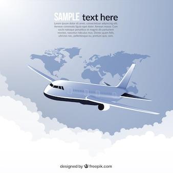Reizen in het vliegtuig rond de wereld