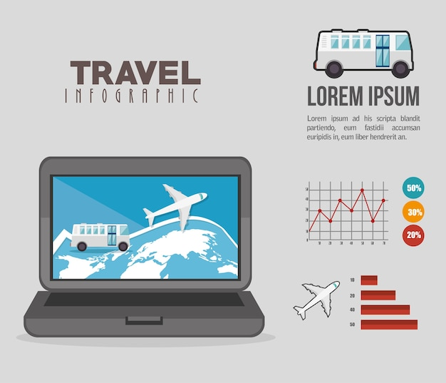 Reizen infographics ontwerp