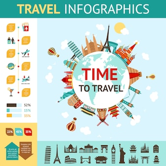Reizen infographics set