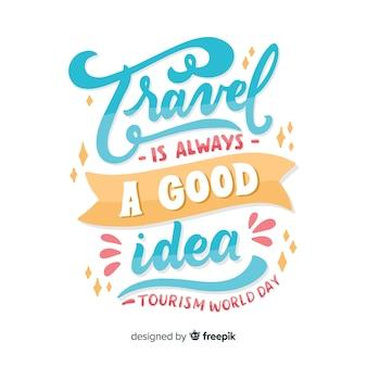 Reizen is altijd een goed idee voor een toeristische dag