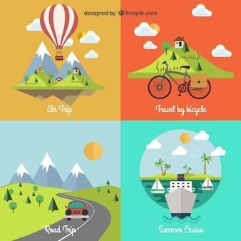 Reizen landschappen