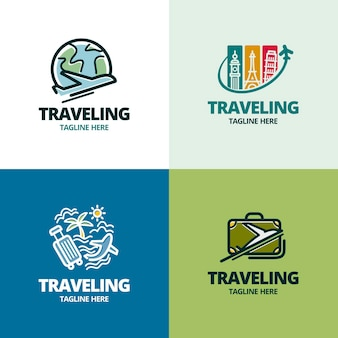 Reizen logo collectie