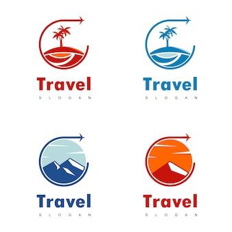 Reizen logo ontwerp vector