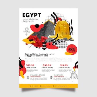 Reizen naar egypte briefpapier poster sjabloon