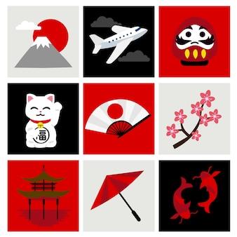 Reizen naar japan set