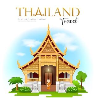 Reizen naar wat phra singh waramahavihan, chiang mai, thailand