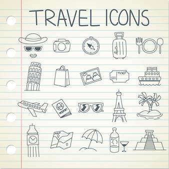 Reizen pictogrammen