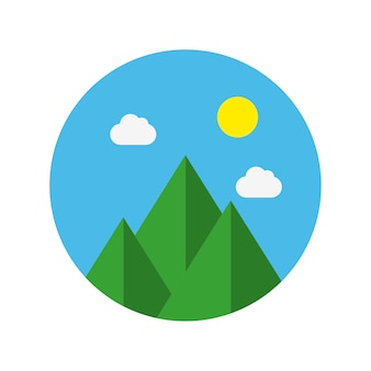 Reizen platte pictogram