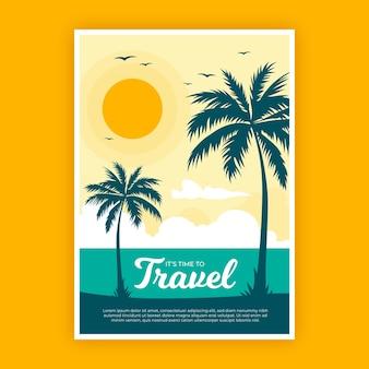 Reizen posterontwerp geïllustreerd