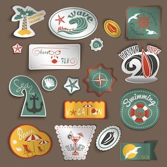 Reizen stickers set