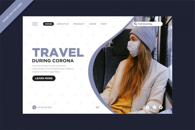 Reizen tijdens bestemmingspagina's van het corona-virus
