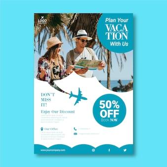 Reizen verkoop flyer sjabloon