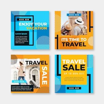 Reizen verkoop instagram-berichten
