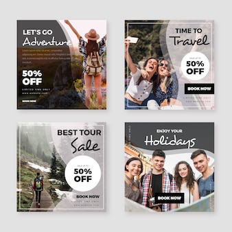 Reizen verkoop instagram post collectie
