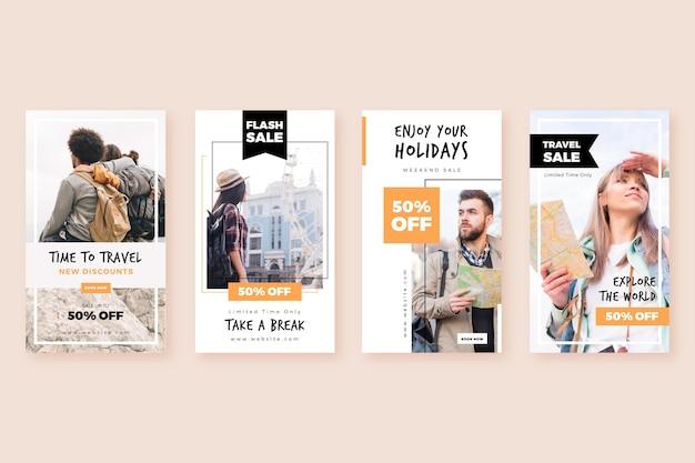 Reizen verkoop instagram verhalencollectie