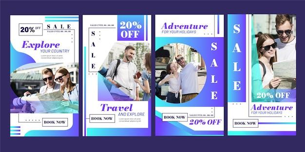 Reizen verkoop instagramverhalen