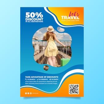 Reizen verkoop sjabloon folder met foto