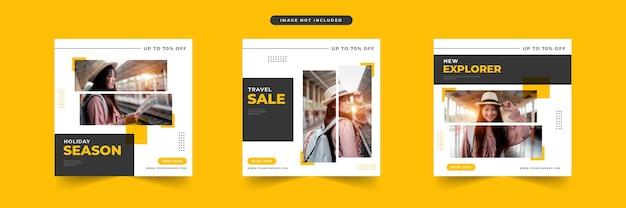 Reizen verkoop sociale media postontwerp