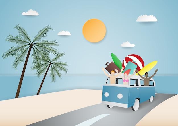 Reizen zomer concept