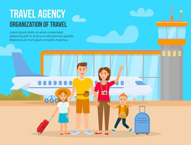Reizend gezin op vakantie