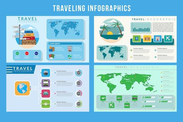 Reizend infographic-ontwerp
