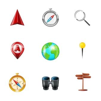 Reizende pictogrammen collectio