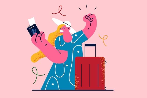 Reizende vakanties reis illustratie