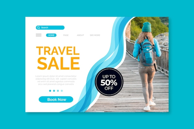 Reizende verkoopwebpagina met speciale aanbieding