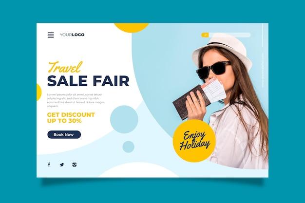 Reizende verkoopwebpagina met speciale korting