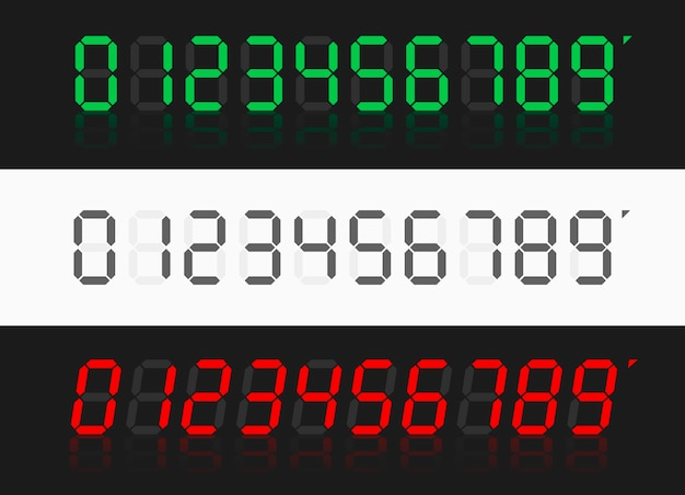 Rekenmachine digitale nummers. digitale klok nummers ingesteld.