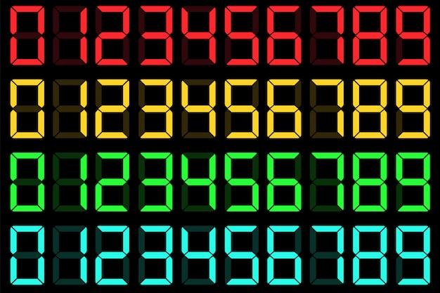 Rekenmachine lcd-nummers met vloeibare kristallen.