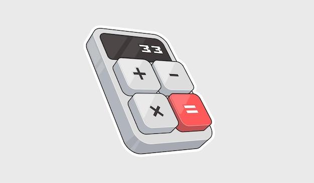 Rekenmachine pictogram. digitale toetsenbord wiskunde geïsoleerd apparaat vectorillustratie.