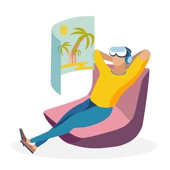 Relax tijd illustratie
