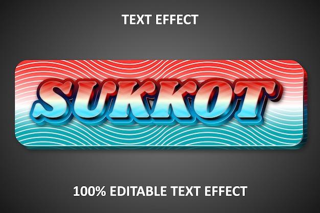 Reliëf bewerkbaar teksteffect sukkot